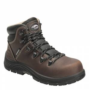 "Avenger 6"" WP Hiker Comp Toe Women's Brown Boot 9 D"