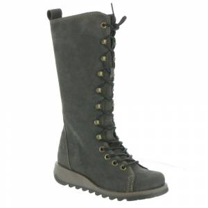 Fly London Syas Women's Grey Boot Euro 38 US 7.5 - 8 M