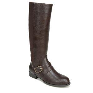 Life Stride Filomena Wide Shaft Women's Brown Boot 6.5 M