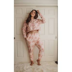 Bohemian Mama The Label Hooded Organic Sweatshirt - Pink Sand - Pink Sand - female