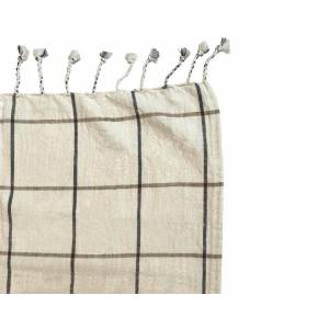 Oyoy Gobi - Grid Bed Cover - Offwhite,Anthracite