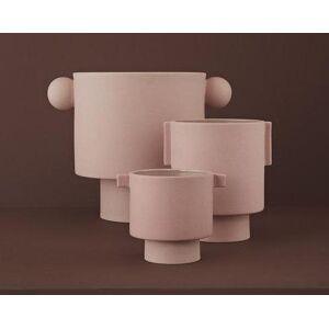 OYOY Large Inka Kana Pot in Rose - Rose