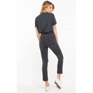 Show Me Your Mumu Soho Button Up Skinnies - Distressed Black - female - Size: 30