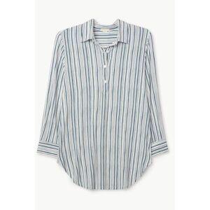 Eberjey Hammock Stripes Boyfriend Sleepshirt - Off White/ Indigo Blue - Off White,Indigo Blue - female