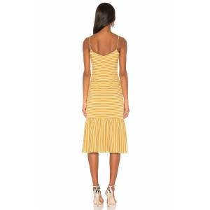 Saylor Doris Dress in Mustard - female - Size: Large