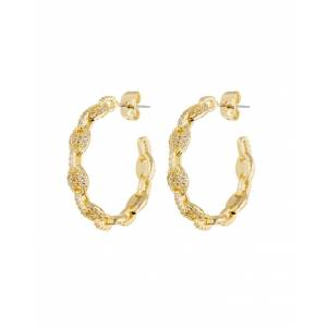 Luv Aj Pave Mariner Hoops - Gold - Gold - female