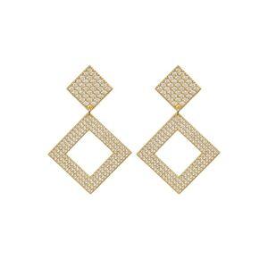 Luv Aj The Pave Princess Earrings - Gold - OS - female