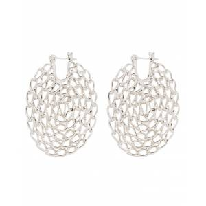 Luv Aj Twisted Chain Hoops - Silver  - OS