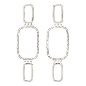 Luv Aj Blair Chain Statement Earrings - Silver - OS - female