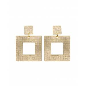 Luv Aj The Pave Box Hoops- Gold - OS - female