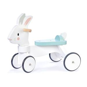 Tender Leaf Toys Running Rabbit Ride On - White