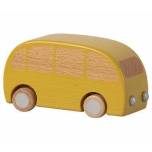 Maileg Wooden Bus -  Yellow - Size: 1.97 in