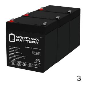 Mightymaxbattery ML5-12 - 12V 5AH ATV Go Kart Sealed Replacement BATTERY 50 70cc 110cc 125cc - 3 Pack