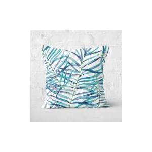 By IWOOT Botanical Pattern Square Cushion - 40x40cm - Soft Touch