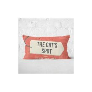 By IWOOT The Cat's Spot Rectangular Cushion - 30x50cm - Soft Touch