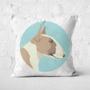 By IWOOT English Terrier Square Cushion - 40x40cm - Soft Touch