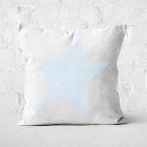 By IWOOT Light Blue Star Square Cushion - 50x50cm - Soft Touch
