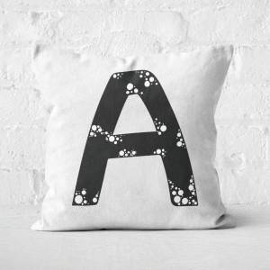 By IWOOT Handwritten A Square Cushion - 50x50cm - Soft Touch