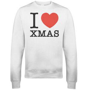 The Christmas Collection I Heart Xmas Christmas Sweatshirt - White - XL - White