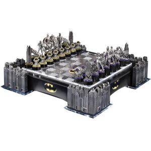 Noble Collection DC Comics Batman Pewter Chess Set with Illuminating Bat Signal