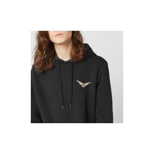 Harry Potter Golden Snitch Unisex Embroidered Hoodie - Black - XXL - Black
