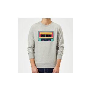 By IWOOT Cassette Tape Sweatshirt - Grey - XXL - Grey