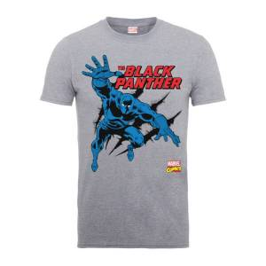 Marvel Comics The Black Panther Men's Grey T-Shirt - L - Grey