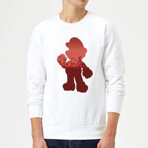 Nintendo Super Mario Mario Silhouette Sweatshirt - White - XXL - White