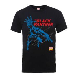 Marvel Comics The Black Panther Men's Black T-Shirt - XL - Black