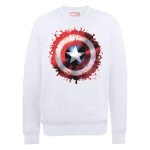 Marvel Avengers Assemble Captain America Art Shield Sweatshirt - White - XL - White