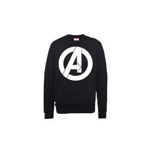 Marvel Avengers Assemble Simple Logo Sweatshirt - Black - L - Black