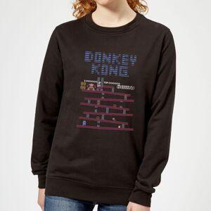 Nintendo Donkey Kong Retro Women's Sweatshirt - Black - M - Black
