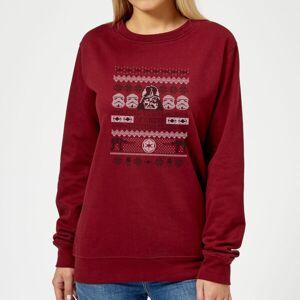 Star Wars I Find Your Lack Of Cheer Disturbing Women's Christmas Sweatshirt - Burgundy - L - Burgundy