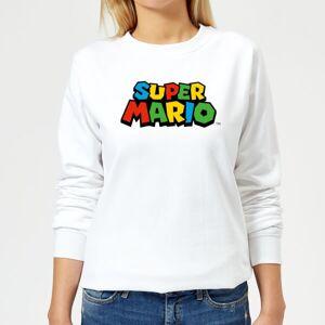 Nintendo Super Mario Colour Logo Women's Sweatshirt - White - XS - White