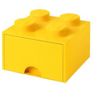 Room Copenhagen LEGO Storage 4 Knob Brick - 1 Drawer (Bright Yellow)