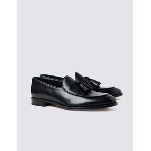 Hawes & Curtis Men's Leather Tassel Loafer in Black Size 9.5
