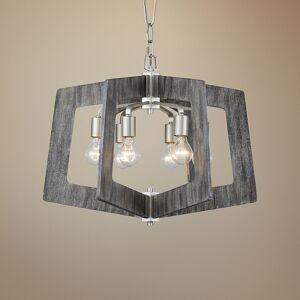 "Varaluz Lofty 24"" Wide Silverado and Gray 6-Light Pendant - Style # 58P15"