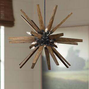 """Feiss Thorne 36 3/4""""W 8-Light Dark Weathered Zinc Chandelier - Style # 65K21"""