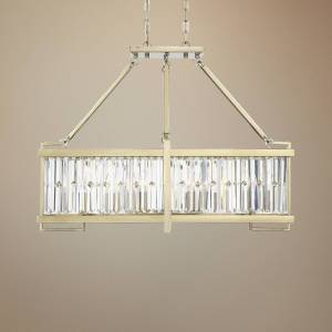 """Savoy House Cologne 36"""" Wide Noble Brass Kitchen Island Light Chandelier - Style # 71F77"""