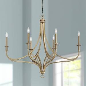 "Minka Lavery Covent Park 40"" Wide Brushed Honey Gold 6-Light Chandelier - Style # 89Y80"