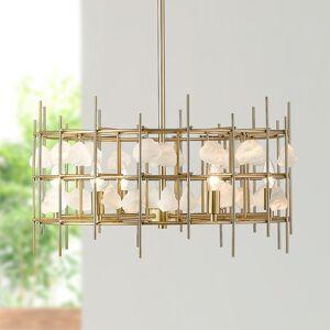 "Universal Lighting and Decor Garroway 24"" Wide Aged Brass 6-Light Chandelier - Style # 95V36"