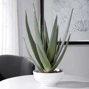 "Uttermost Evarado Aloe Vera 30"" High Faux Plant in White Bowl - Style # 83W37"