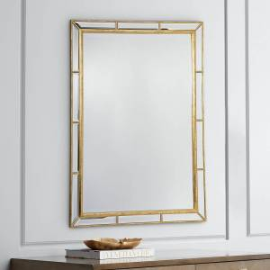 "Regina Andrew Plaza Gold Leaf 29"" x 41"" Wall Mirror - Style # 9R137"