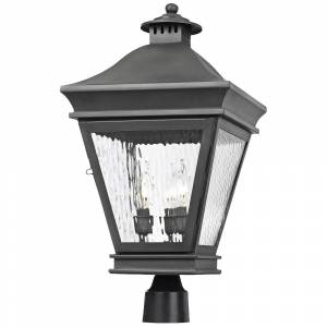 """Elk Landings Collection 22"""" High Charcoal Outdoor Post Light - Style # 3J315"""