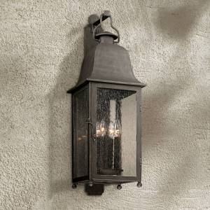 "Troy Larchmont 31 1/2"" High Aged Pewter Outdoor Wall Light - Style # 7C246"