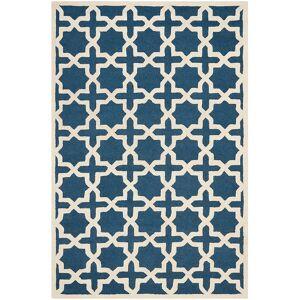 Safavieh Cambridge CAM125G 8'x10' Navy Blue/Ivory Wool Rug - Style # 5J929
