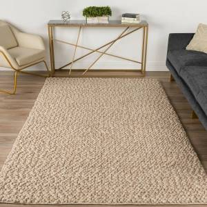 Dalyn Rug Company Dalyn Gorbea GR1 8'x10' Latte Wool Area Rug - Style # 92E18