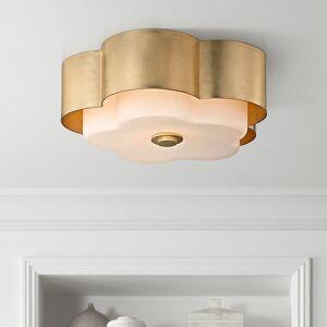"""Troy Allure 13 1/2"""" Wide Gold Leaf Ceiling Light - Style # 23V80"""
