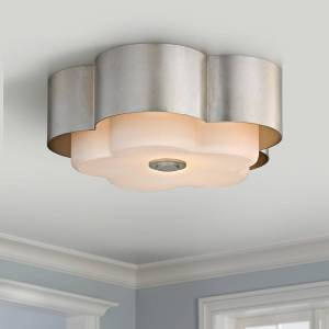 "Troy Allure 13 1/2"" Wide Silver Leaf Ceiling Light - Style # 23V85"