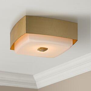 """Troy Allure 13"""" Wide Gold Leaf Square Ceiling Light - Style # 23V97"""